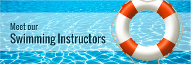 Swimming instructors banner